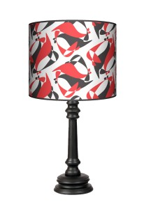 Lampa Queen - Black Red White