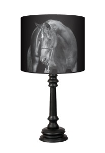 Lampa Queen - Black horse