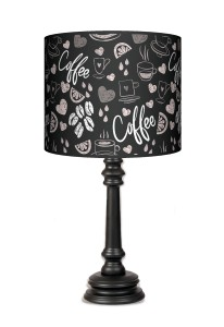 Lampa Queen - Coffee time black