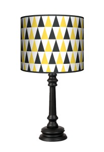 Lampa Queen - Black & yellow