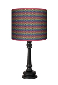 Lampa Queen - Colorful zygzak (czarny)