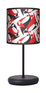Lampa stołowa - EKO - Black Red White